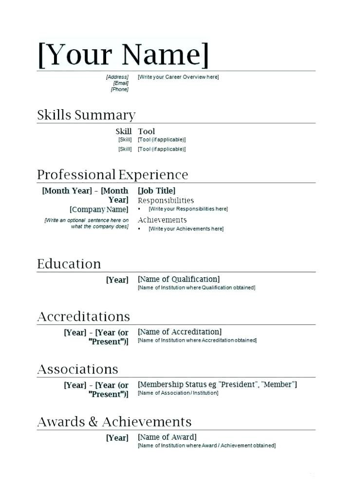 Musical theatre Resume Template 4 5 Acting Resume Template