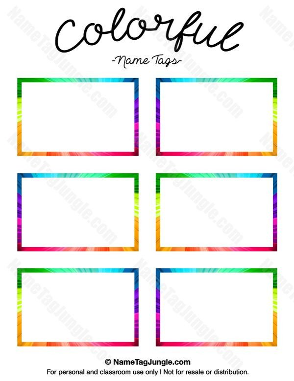 Name Tag Template Free 17 Best Ideas About Name Tag Templates On Pinterest