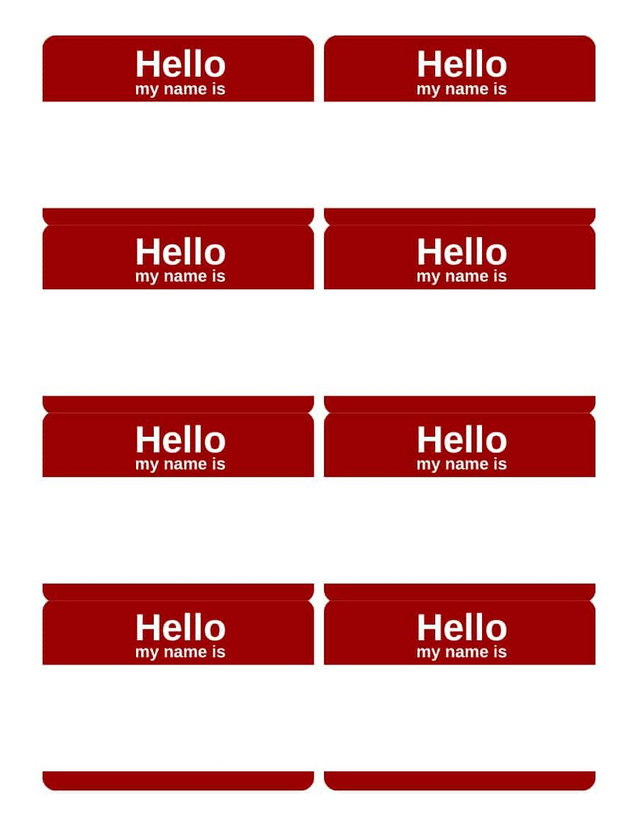 Name Tag Template Free 47 Free Name Tag Badge Templates Template Lab