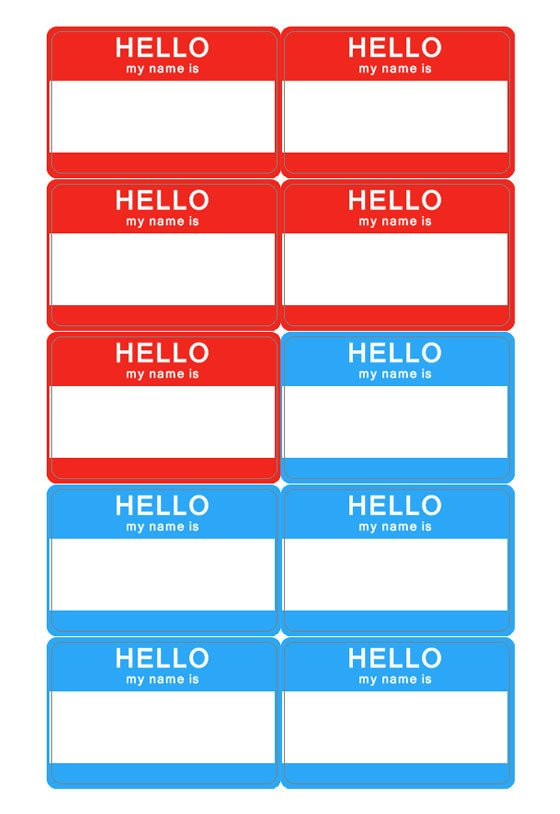 Name Tag Template Free Name Tag Template