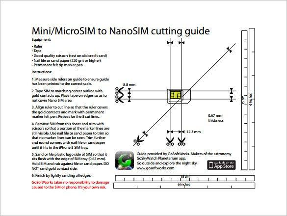 Nano Sim Template 8 5x 11 Nano Sim Card