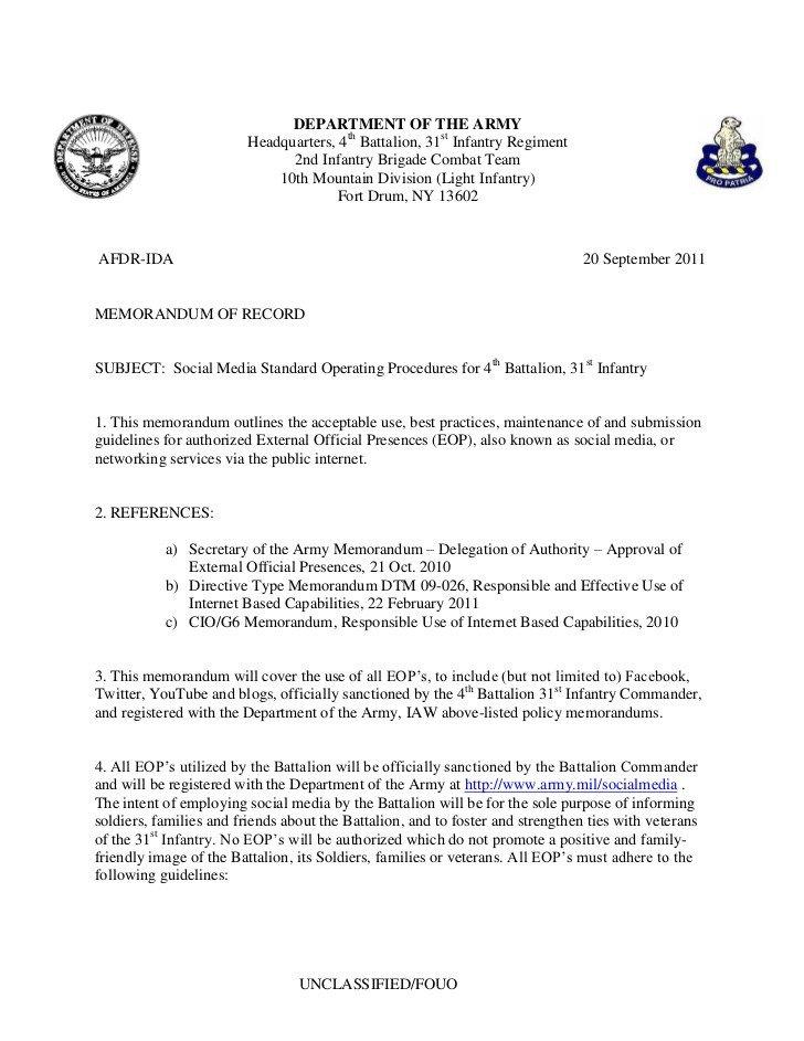 Navy sop format 4 31 social Media sop