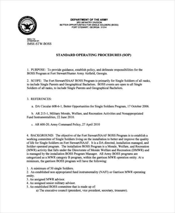 Navy sop format 45 sop formats