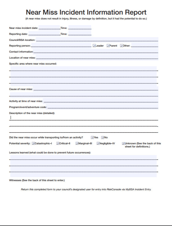 Near Miss Reporting Template 6 Near Miss Reporting form Examples You'll Want to Copy