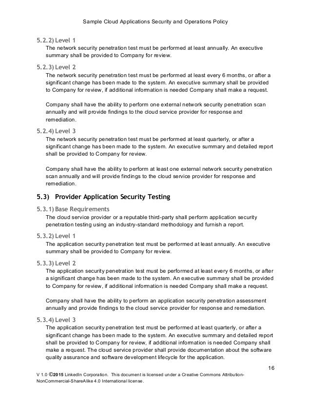 Network Security Policy Template Example Sample Network Security Policy