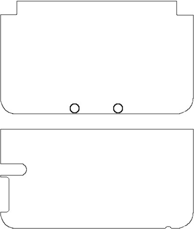 New 3ds Xl Skin Template 3ds Xl Full Template by Lito290 On Deviantart