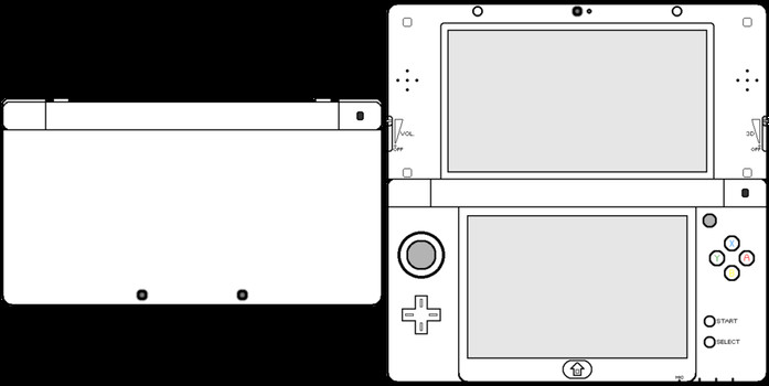 New 3ds Xl Skin Template Blank Templates Favourites by Pm On Deviantart
