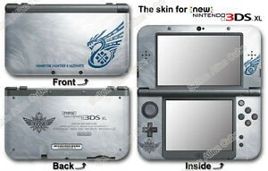 New 3ds Xl Skin Template Monster Hunter 4 Ultimate Limited Edition Skin Sticker