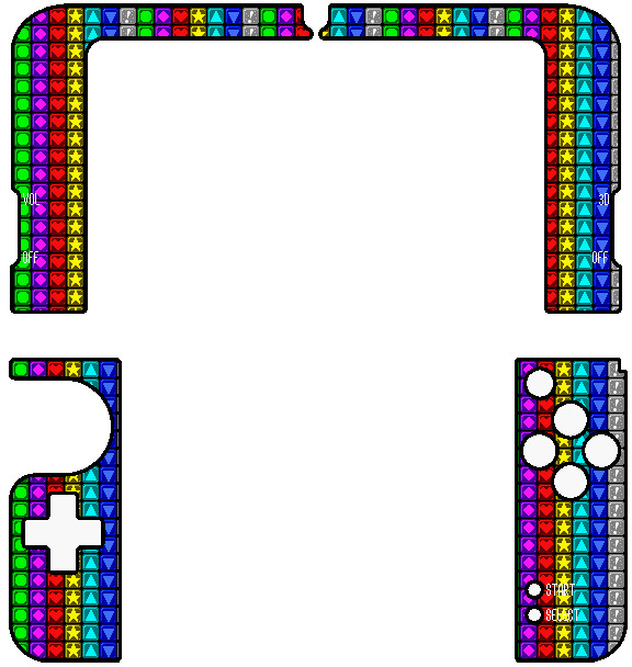 New 3ds Xl Skin Template New 3ds Xl Puzzle League Skin Inside by thewolfbunny