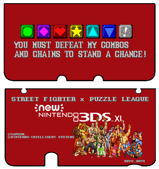 New 3ds Xl Skin Template New 3ds Xl Sfii X Puzzle League Skin Front Back by