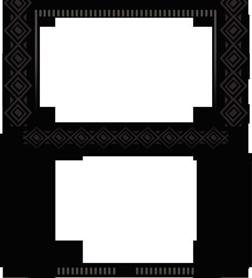 New 3ds Xl Skin Template New Pokemonster Hunter 3ds Xl Skin Art Of Rj Palmer