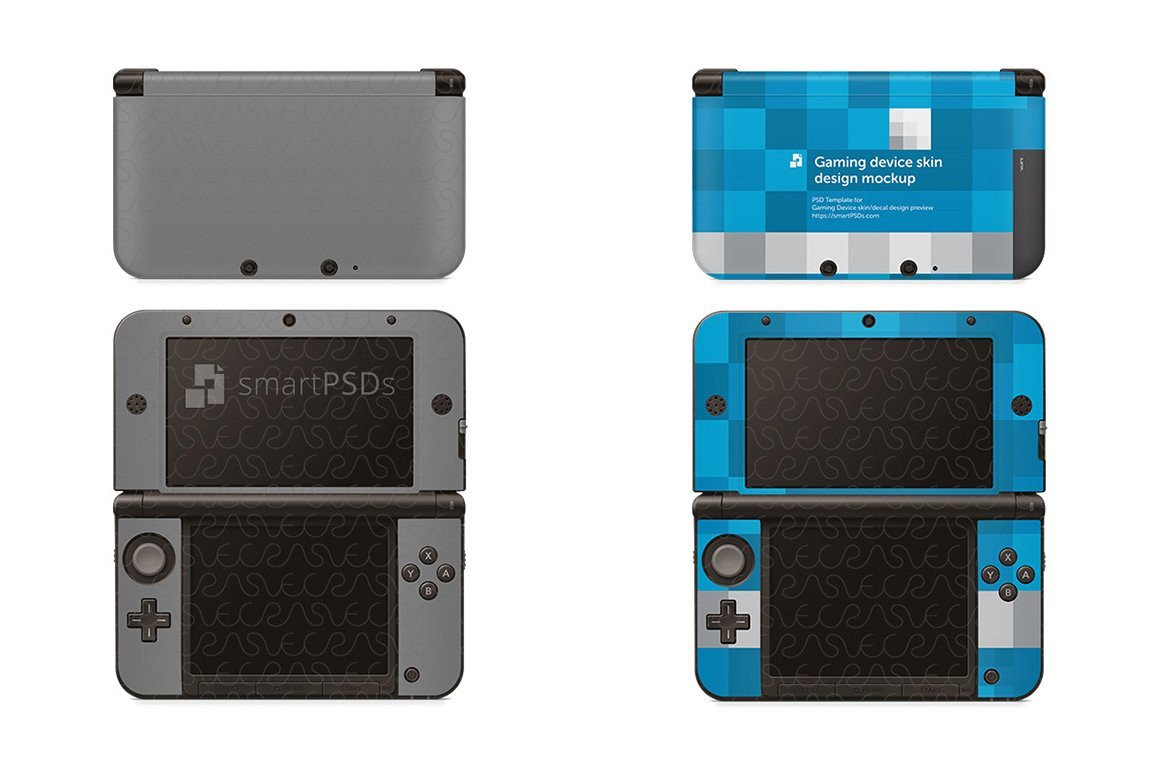 New 3ds Xl Skin Template Nintendo 3ds Xl Skin Mockup Product Mockups Creative