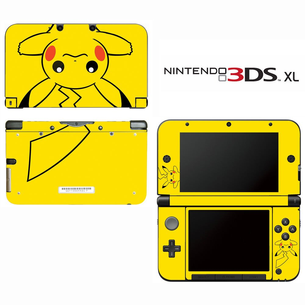 New 3ds Xl Skin Template Vinyl Skin Decal Cover for Nintendo 3ds Xl Ll Pokemon