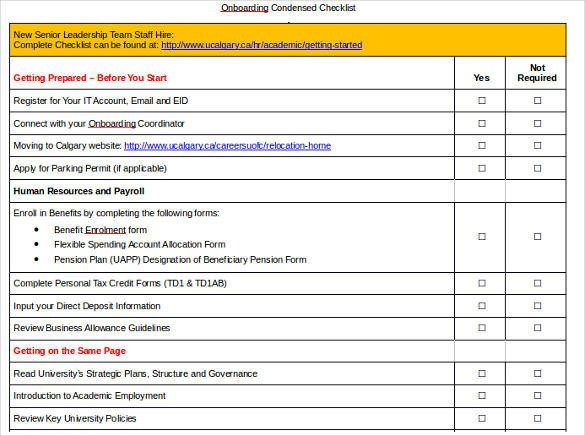 New Employee Onboarding Checklist Template 11 Boarding Checklist Samples and Templates Pdf Word