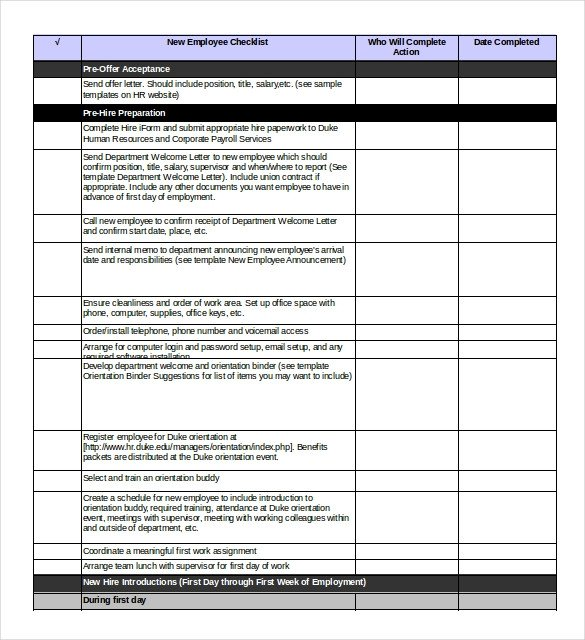 New Employee Onboarding Checklist Template Boarding Checklist Template 17 Free Word Excel Pdf