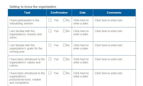New Employee Onboarding Checklist Template Boarding Schedule Template
