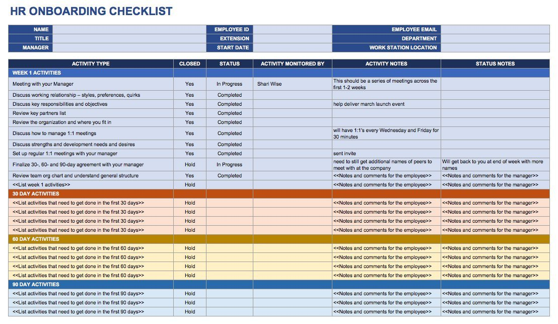 New Employee Onboarding Checklist Template Free Boarding Checklists and Templates