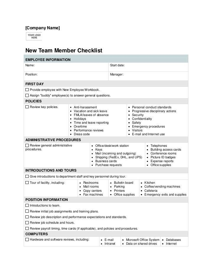 New Employee Onboarding Checklist Template Pin by Itz My On Human Resource Management