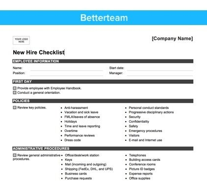 New Employee Onboarding Checklist Template the Ultimate New Hire Checklist How to Board Right