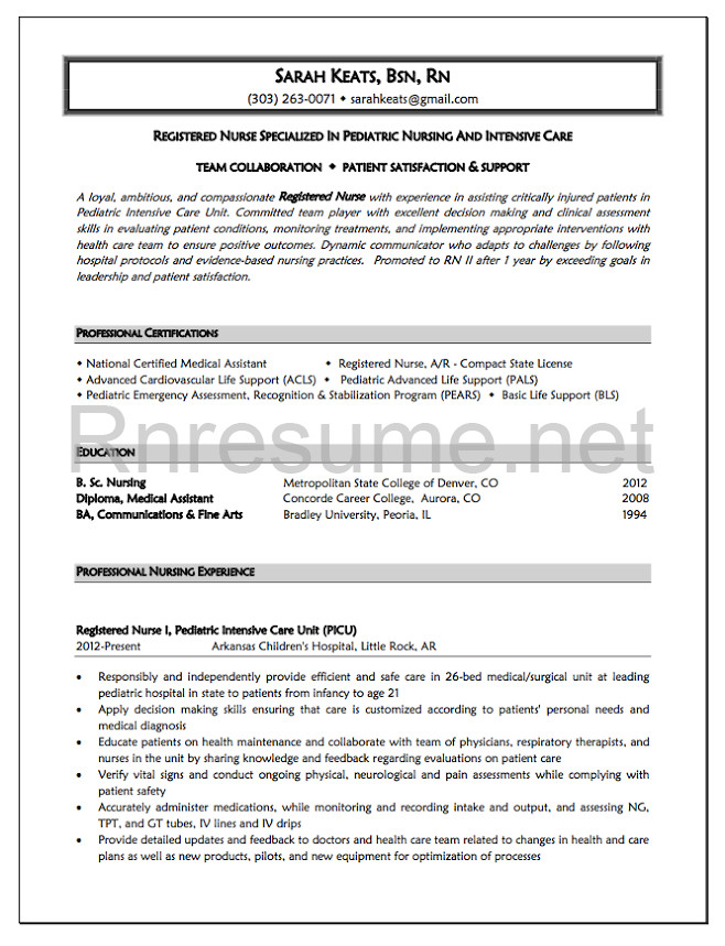 New Grad Nursing Resume Templates 1000 Ideas About Rn Resume On Pinterest