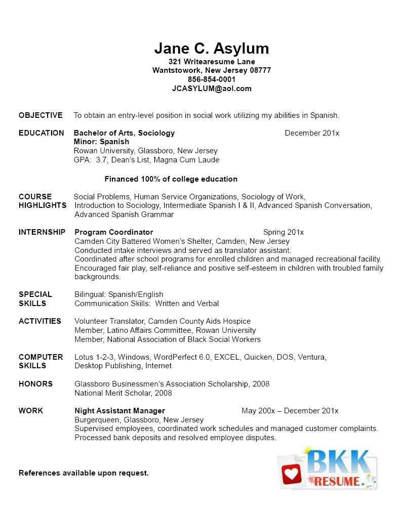 New Grad Nursing Resume Templates New Grad Resume New Graduate Resume