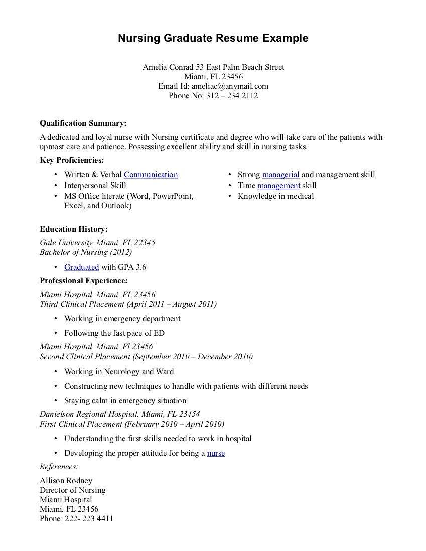 New Grad Nursing Resume Templates New Graduate Nurse Resume Cover Letter Nursing Take Care