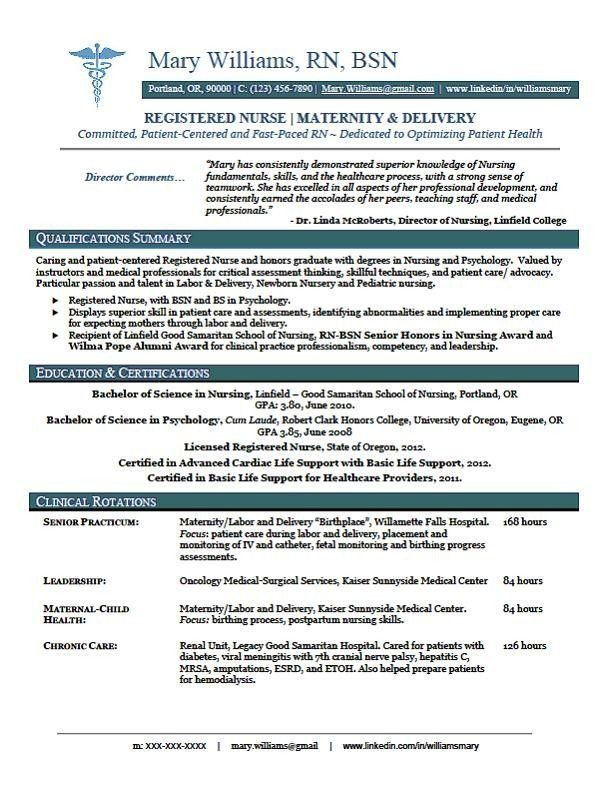 New Grad Nursing Resume Templates Sample New Rn Resume