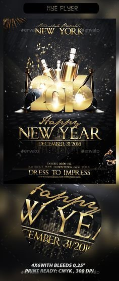 New Year Eve Flyer 2016 New Year Party Psd Flyer Template