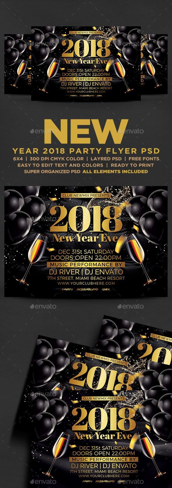 New Year Eve Flyer 2018 New Year Eve Flyer events Flyers
