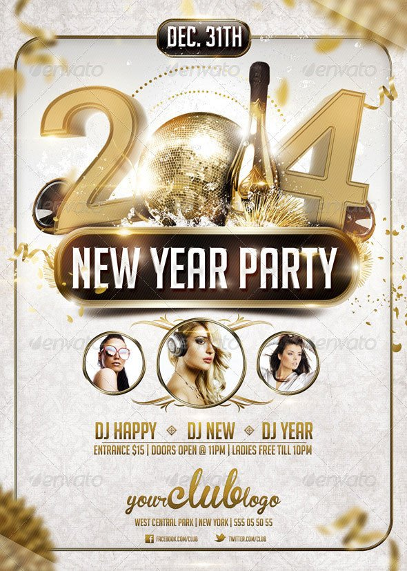 New Year Eve Flyer 25 Christmas & New Year Party Psd Flyer Templates