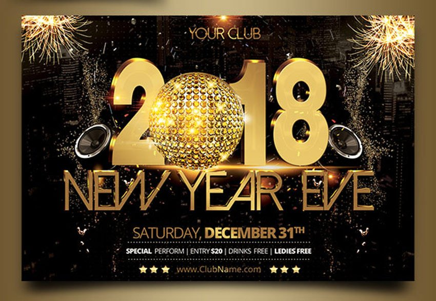 New Year Eve Flyer 30 Best New Year S Eve Flyers and Invitations