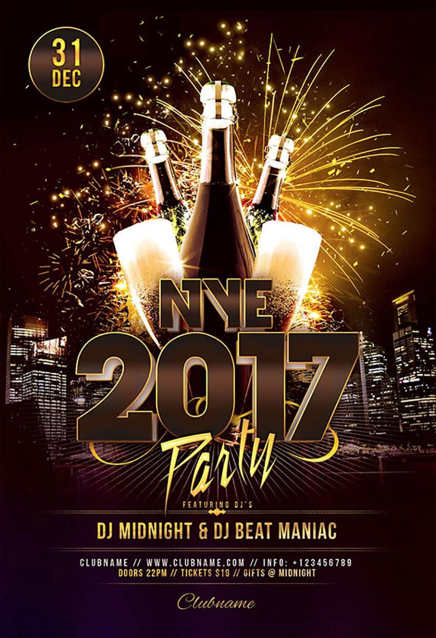 New Year Eve Flyer 50 Amazing Christmas and New Year S Eve Flyers for the