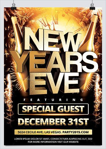 New Year Eve Flyer Christmas and New Year Party Flyers 2 Hollymolly