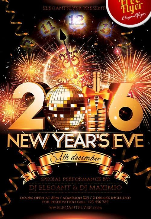 New Year Eve Flyer Download the Best Free New Year Flyer Psd Templates for