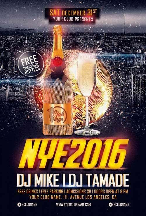 New Year Eve Flyer Download the New Years Eve Flyer Template Vol 2