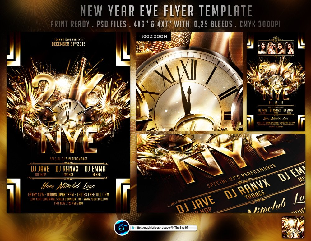 New Year Eve Flyer New Year Eve Flyer Template by Ranvx54 On Deviantart