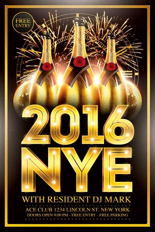 New Year Eve Flyer New Year Flyer Template Xtremeflyers