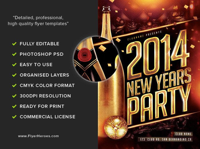 New Year Eve Flyer New Year S Eve Flyer Template Flyerheroes