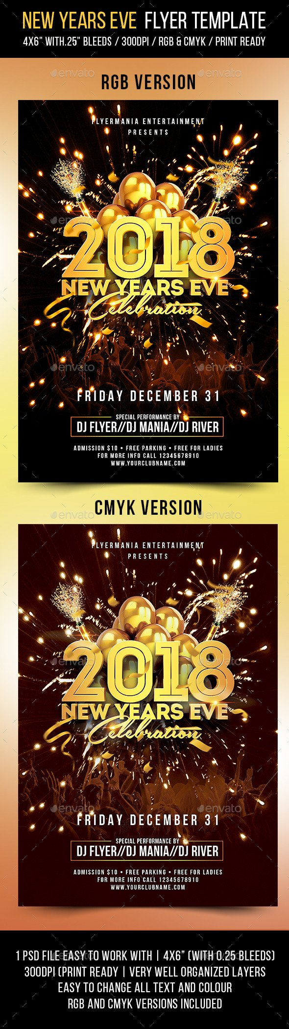 New Year Eve Flyer New Years Eve Flyer Template by Flyermania