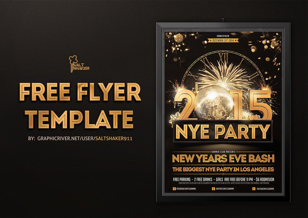 New Year Eve Flyer New Years Eve Flyer Template by Saltshaker911