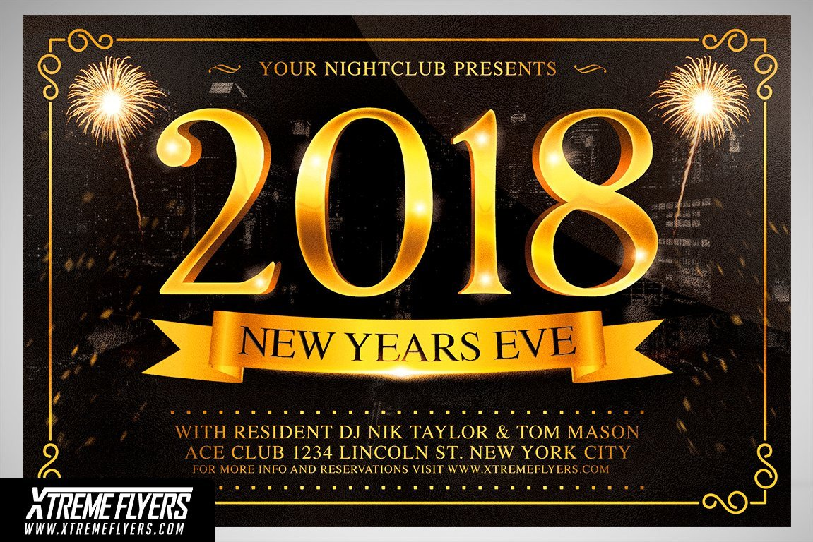 New Year Eve Flyer New Years Eve Flyer Template Flyer Templates Creative