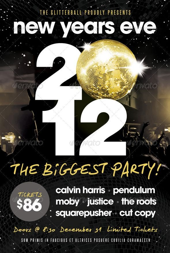 New Year Eve Flyer New Years Eve Flyer Template