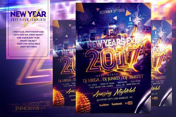 New Year Eve Flyer New Years Eve V3 Flyer Template Flyer Templates On