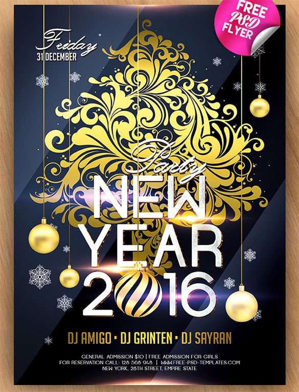 New Year Party Invitation Template 28 New Year Invitation Templates – Free Word Pdf Psd