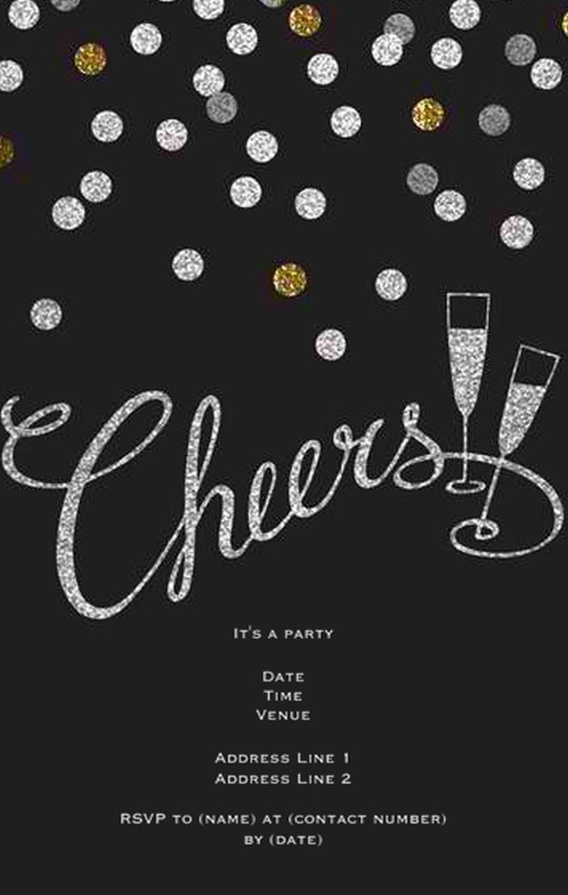 New Year Party Invitation Template 8 Diy New Years Eve Invitations