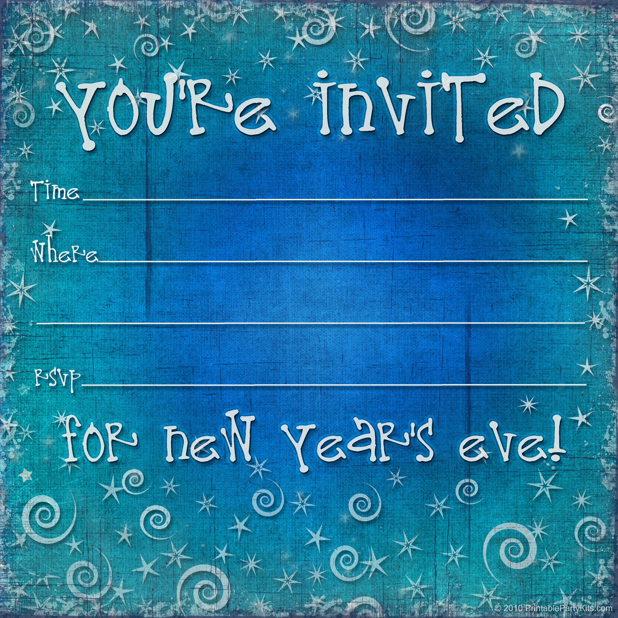 New Year Party Invitation Template Free Printable New Years Eve Party Invitation Template