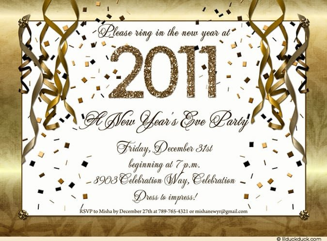 New Year Party Invitation Template New Year Invitation Template