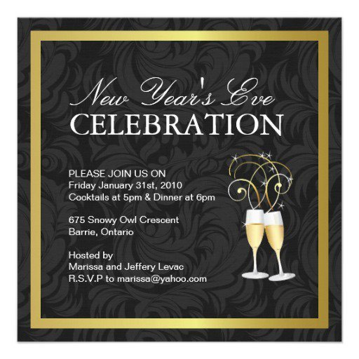 New Year Party Invitation Template New Year Party Invitation Templates Free