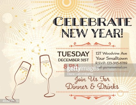 New Year Party Invitation Template New Years Eve Party Invitation Template Vector Art