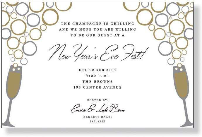 New Year Party Invitation Template Nye Party Invitation